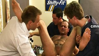 Gay;Gay Group Sex;Masturbation;Domination;Brunette;Caucasian;Anal Masturbation;Toys