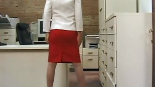 Solo Girl;Masturbation;Caucasian;Toys;Amateur;Stockings;Striptease;Office;Secretary;High Heels