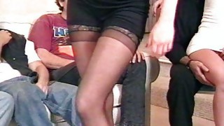 Group Sex;Vaginal Sex;Masturbation;Oral Sex;Anal Sex;Brunette;Caucasian;Vaginal Masturbation;Blowjob;Stockings;Striptease;Cum Shot