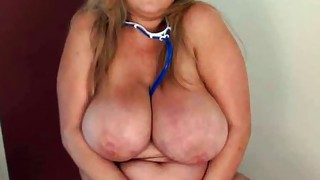 Solo Girl;Masturbation;Blonde;Big Tits;Caucasian;Vaginal Masturbation;Toys;Stockings;Chubby;BBW