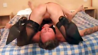 Couple;Oral Sex;Caucasian;Licking Vagina;Amateur;Stockings;Cum Shot;Fetish;Femdom