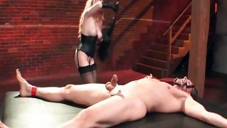Nasty blonde slut goes crazy playing