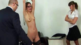Domination;Shaved;Stockings;Secretary;Spanking;Threesome;Fetish