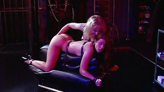 Lesbian;Masturbation;Oral Sex;Domination;Blonde;Redhead;Caucasian;Vaginal Masturbation;Licking Vagina;Stockings;Lingerie;Spanking;Fetish;Femdom;Tribbing