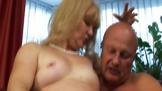 Couple;Vaginal Sex;Masturbation;Oral Sex;Granny;Blonde;Caucasian;Vaginal Masturbation;Toys;Blowjob;Licking Vagina;Position 69;Stockings;German
