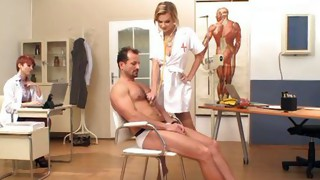 Vaginal Sex;Oral Sex;Anal Sex;Blonde;Redhead;Caucasian;Blowjob;Hospital;Cum Shot;Threesome;MILF;Nurse