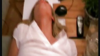 Couple;Vaginal Sex;Anal Sex;Blonde;Caucasian;Blowjob;Shaved;Stockings;Office;Secretary;Cum Shot;German;High Heels