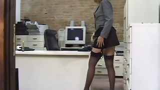 Solo Girl;Masturbation;Toys;Amateur;Gym;Stockings;Striptease;Secretary;High Heels
