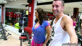 Massive boobs Sirale pounded in the gym